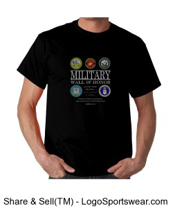 Military Wall of Honor Short Sleeve Design Zoom