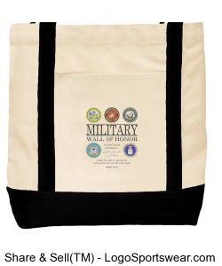 Military Wall of Honor Tote Bag Design Zoom