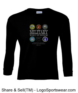 Military Wall of Honor Long Sleeve Design Zoom