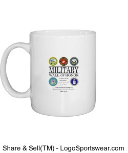 Military Wall of Honor Coffee Mug Design Zoom